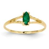 Emerald Birthstone Ring 14k Gold XBR182