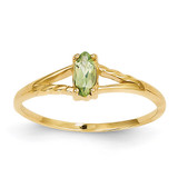 Peridot Birthstone Ring 14k Gold XBR185
