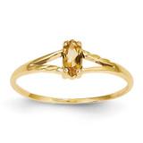 Citrine Birthstone Ring 14k Gold XBR188