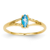 Blue Topaz Birthstone Ring 14k Gold XBR189
