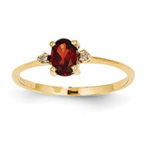 Diamond & Garnet Birthstone Ring 14k Gold XBR202