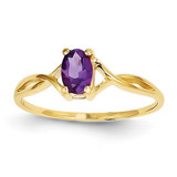 Amethyst Birthstone Ring 14k Gold XBR227