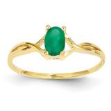 Emerald Birthstone Ring 14k Gold XBR230