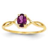 Rhodolite Garnet Birthstone Ring 14k Gold XBR231