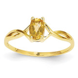 Citrine Birthstone Ring 14k Gold XBR236