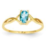 Blue Topaz Birthstone Ring 14k Gold XBR237