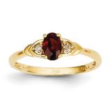 Diamond & Garnet Ring 14k Gold XBS260