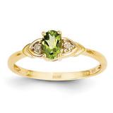 Diamond & Peridot Ring 14k Gold XBS281