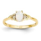 Diamond & Genuine Opal Ring 14k Gold XBS283