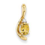 Diamond & Citrine Pendant 14k Gold XBS438