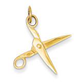 Moveable Scissors Charm 14k Gold XCH125