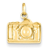 3-D Polished Camera Charm 14k Gold XCH135