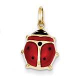 Enameled Ladybug Charm 14k Gold XCH214