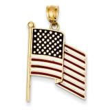 Enameled Flag Pendant 14k Gold XCH370