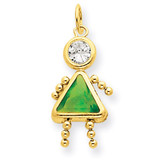 August Girl Birthstone Charm 14k Gold XCK170