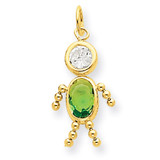 August Boy Birthstone Charm 14k Gold XCK171