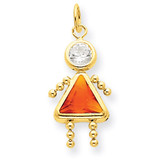 November Girl Birthstone Charm 14k Gold XCK176