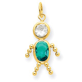 December Boy Birthstone Charm 14k Gold XCK179