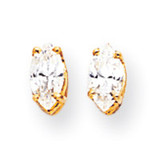 6x3 Marquise Earring Mountings 14k Gold XE102