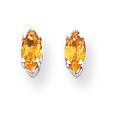 6x3mm Citrine Marquise Stud Earring 14k Gold XE102WCI