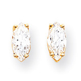 8x4 Marquise Earring Mountings 14k Gold XE104