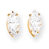 10x5 Marquise Earring Mountings 14k Gold XE105