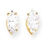 10x5mm Marquise CZ earring 14k Gold XE105CZ