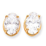14x10 Oval Earring Mountings 14k Gold XE92