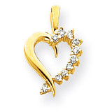 Diamond heart pendant 14k Gold XH10AA