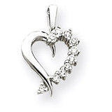 Heart Pendant Mounting 14k White Gold XH10W