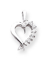 Diamond heart pendant 14k White Gold XH10WAA