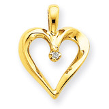 Diamond Heart Pendant Charm 14k Gold XH150A