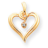 Diamond Heart Pendant 14k Gold XH23AA