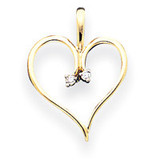 Diamond Heart Pendant 14k Gold XH24AA