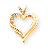 Diamond heart pendant 14k Gold XH26AAA