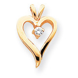 Diamond Heart Pendant 14k Gold XH38AA