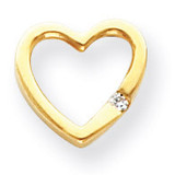 Diamond heart pendant 14k Gold XH56A