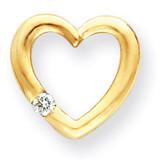 Diamond Heart Pendant Mounting 14k Gold XH61