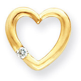 Diamond heart pendant 14k Gold XH61A