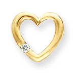 Diamond Heart Chain Slide 14k Gold XH61AA