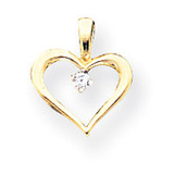 Diamond heart pendant 14k Gold XH6AA