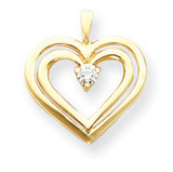 Diamond Heart Pendant 14k Gold XH72AA