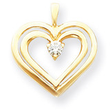 Diamond heart pendant 14k Gold XH72VS