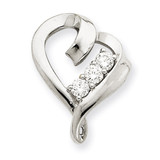 Diamond heart pendant 14k White Gold XH95WA