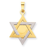 Star of David 14k Two-Tone Gold XK668