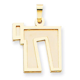 Solid Satin Chai Charm 14k Two-Tone Gold XK674