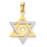 Star of David 14k Two-Tone Gold XK686