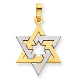 Star of David 14k Two-Tone Gold XK687