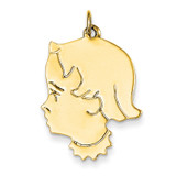 Girl Head Charm 14k Gold XM102/13