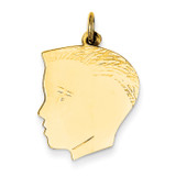 Boy Head Charm 14k Gold XM103/13